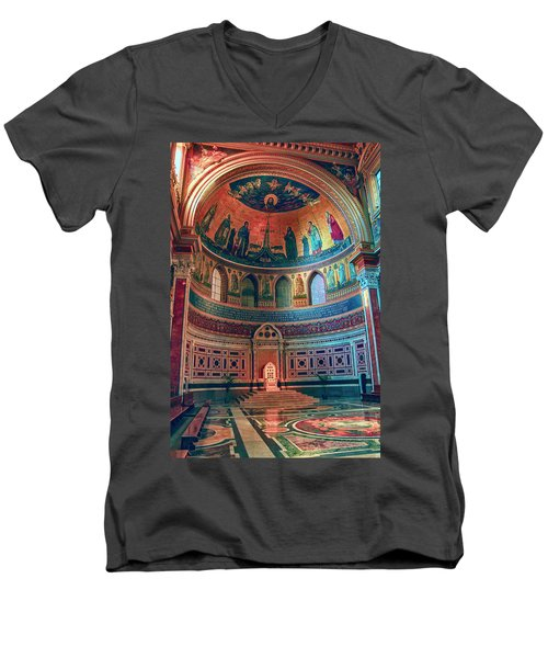 The Colorful Interior Of Roman Catholic Cathedral Men's V-Neck T-Shirt