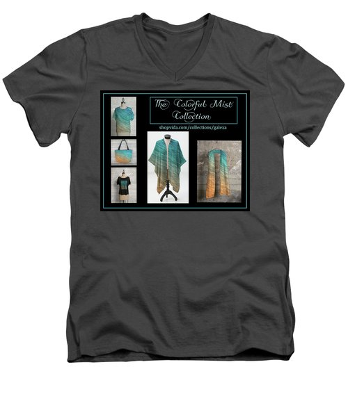 The Colorful Mist Collection Men's V-Neck T-Shirt by Geraldine Alexander