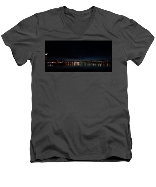 The Colors Of A Nightly Bridge Men's V-Neck T-Shirt