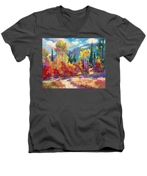 The Colors Of New Hampshire Men's V-Neck T-Shirt