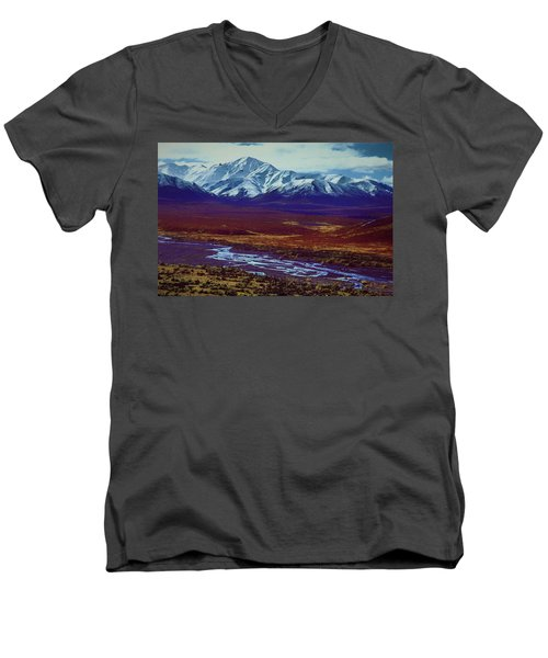 The Colors Of Toklat River Men's V-Neck T-Shirt