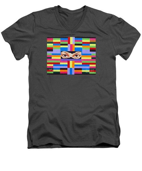 The Colour Of Life Men's V-Neck T-Shirt by Ragunath Venkatraman