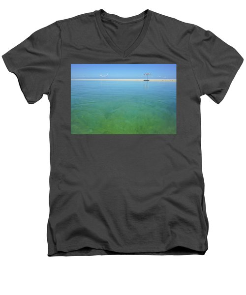 The Colours Of Paradise On A Summer Day Men's V-Neck T-Shirt