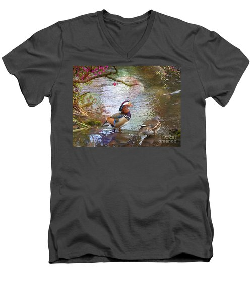 Men's V-Neck T-Shirt featuring the photograph The Colours Of Spring by LemonArt Photography