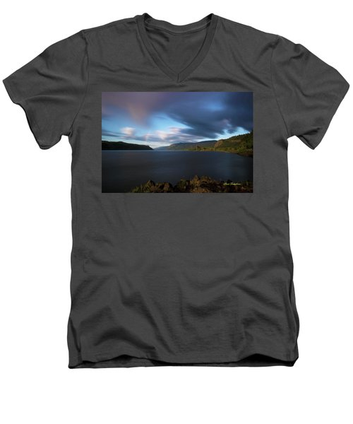 The Columbia River Gorge Signed Men's V-Neck T-Shirt