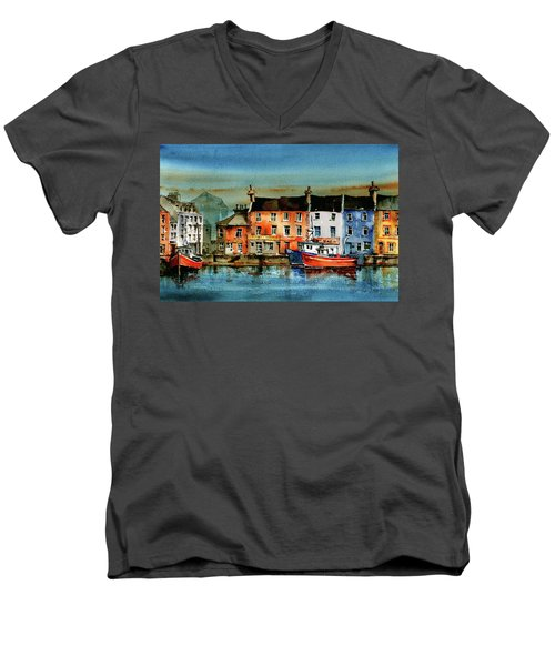 The Commercial Docks, Galway Citie Men's V-Neck T-Shirt