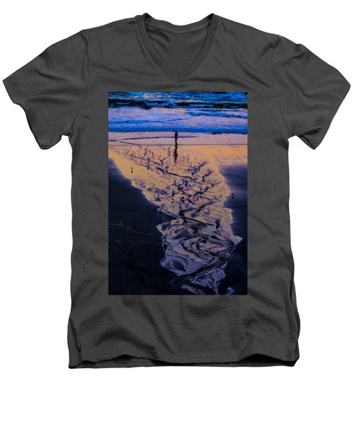 The Comming Day Men's V-Neck T-Shirt by Dale Stillman