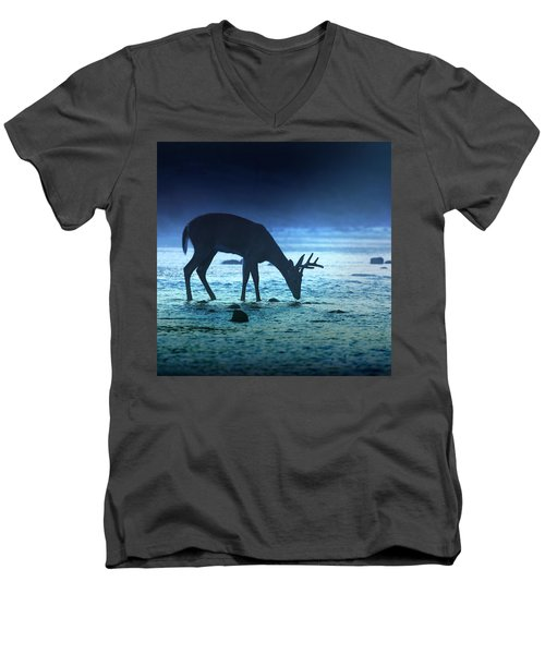 The Cool Of The Night - Square Men's V-Neck T-Shirt by Rob Blair