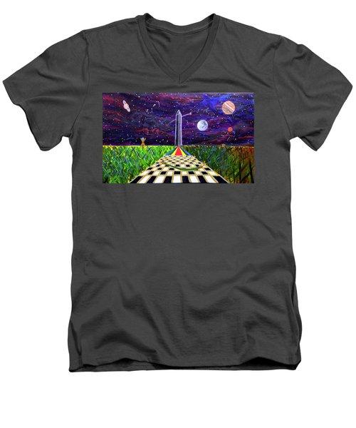 The Cooornfffield Men's V-Neck T-Shirt