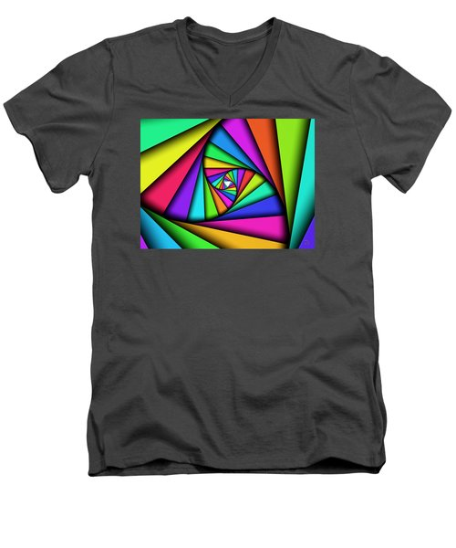 Men's V-Neck T-Shirt featuring the digital art The Core by Manny Lorenzo