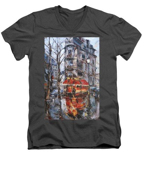 The Corner Cafe Men's V-Neck T-Shirt