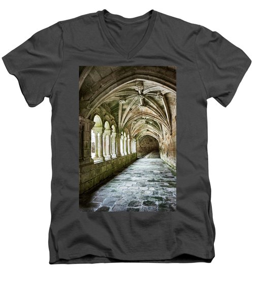 The Corridors Of The Monastery Men's V-Neck T-Shirt