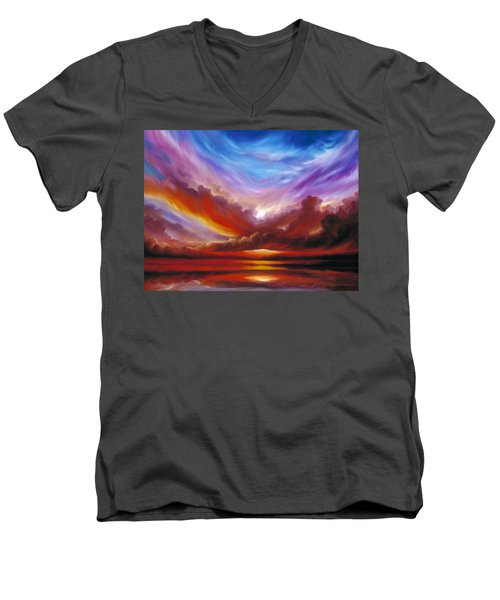 The Cosmic Storm II Men's V-Neck T-Shirt