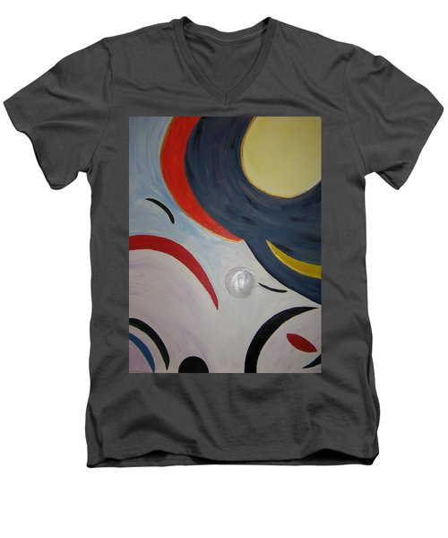 The Cosmos Men's V-Neck T-Shirt by Barbara Yearty