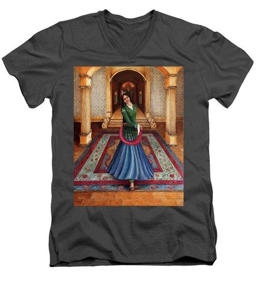 The Court Dancer Men's V-Neck T-Shirt
