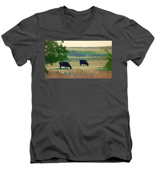 The Cows Next Door Men's V-Neck T-Shirt