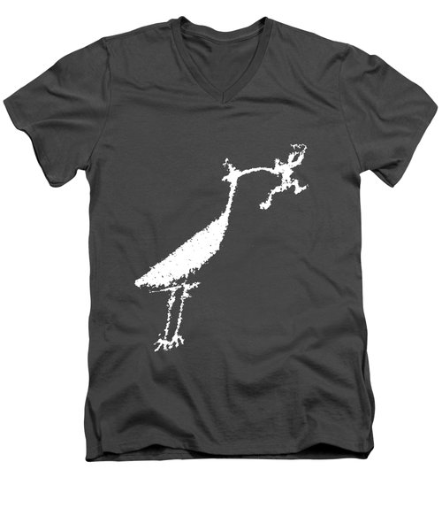 The Crane Men's V-Neck T-Shirt by Melany Sarafis