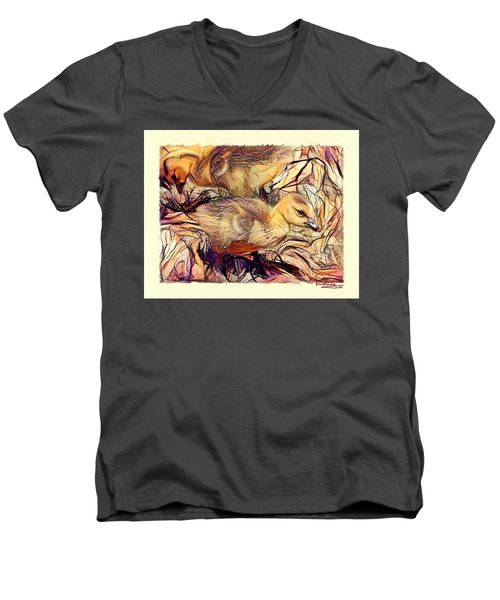 The Critic Men's V-Neck T-Shirt by Ludwig Keck