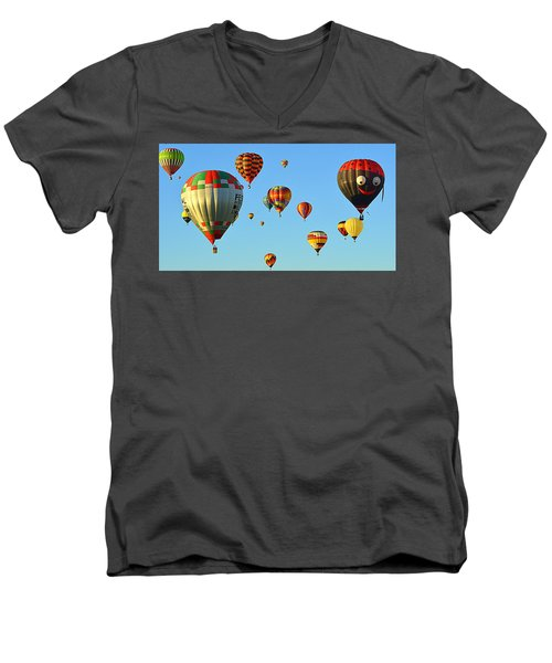 Men's V-Neck T-Shirt featuring the photograph The Crowded Skies by AJ Schibig