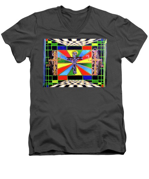 The Crucifffictiooon - Paradisi Gloooria Men's V-Neck T-Shirt