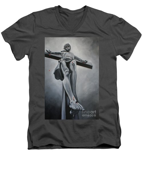The Crucifixion Men's V-Neck T-Shirt
