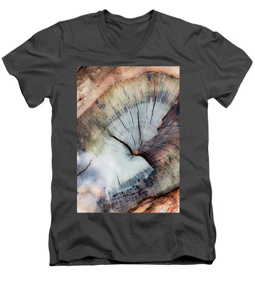 Men's V-Neck T-Shirt featuring the photograph The Cut by Stephen Anderson