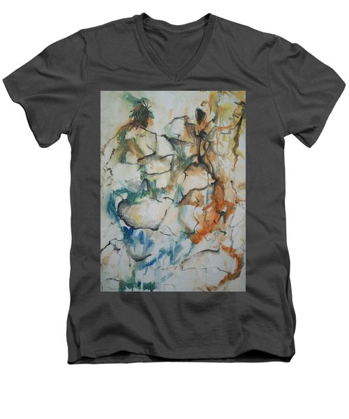 The Dance Men's V-Neck T-Shirt by Raymond Doward