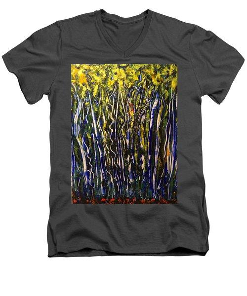 The Dancing Garden Men's V-Neck T-Shirt