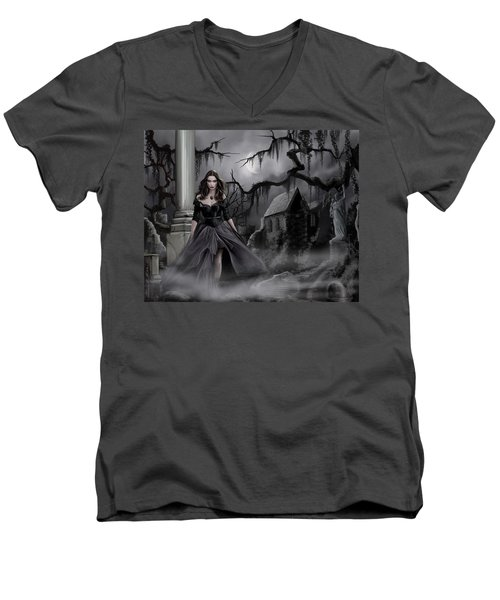 The Dark Caster Comes Men's V-Neck T-Shirt by James Christopher Hill