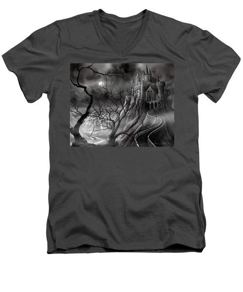 The Dark Castle Men's V-Neck T-Shirt
