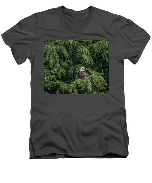 Men's V-Neck T-Shirt featuring the photograph The Dark Eyed One by Timothy Latta