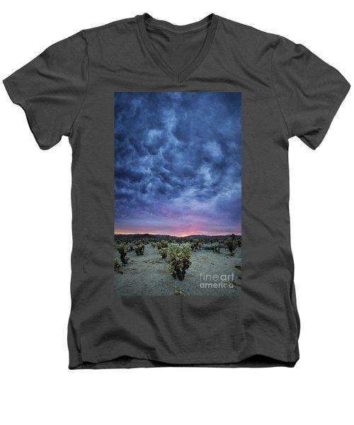 The Dark Sunset 2 Men's V-Neck T-Shirt
