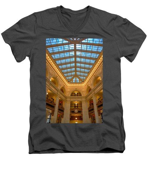 The David Whitney Building Men's V-Neck T-Shirt