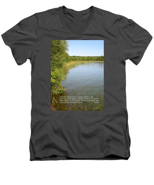The Deep Heart's Core Men's V-Neck T-Shirt by Deborah Dendler
