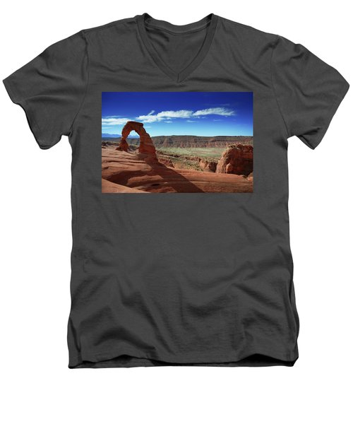 The Delicate Arch Men's V-Neck T-Shirt