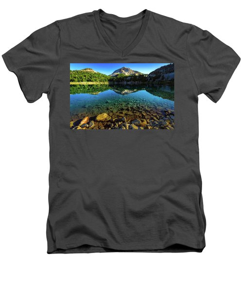 The Depths Of Lake Helen Men's V-Neck T-Shirt