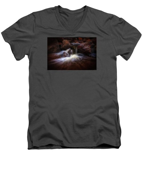 The Desert Drinks Men's V-Neck T-Shirt by Rick Furmanek
