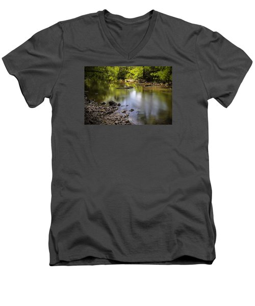 Men's V-Neck T-Shirt featuring the photograph The Devon River by Jeremy Lavender Photography