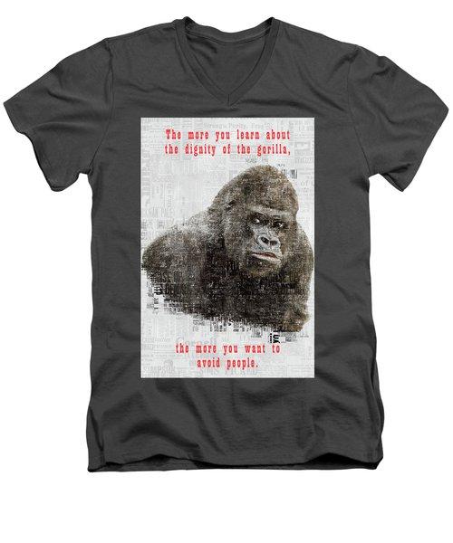 The Dignity Of A Gorilla Men's V-Neck T-Shirt