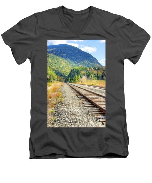 The Disappearing Railroad Men's V-Neck T-Shirt