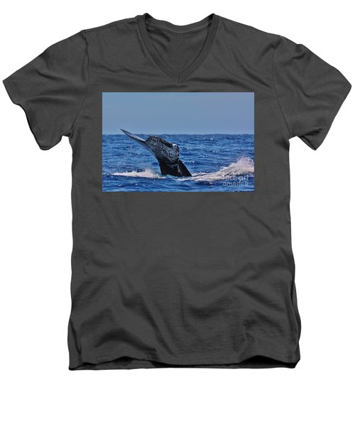 The Dive Men's V-Neck T-Shirt by Sheila Ping