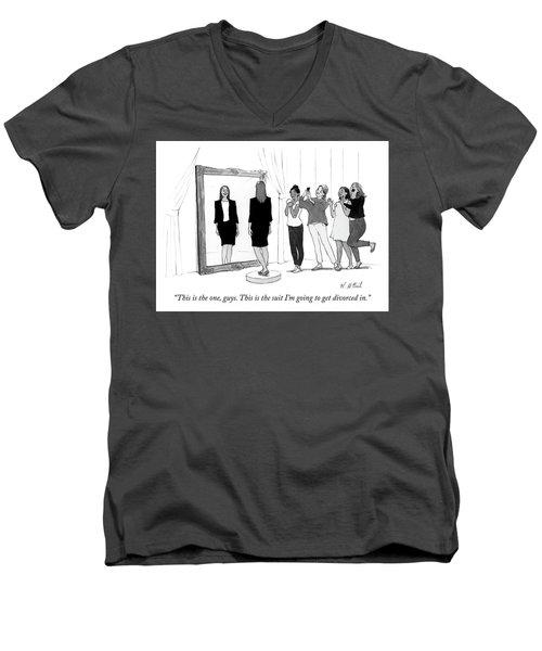 The Divorce Suit Men's V-Neck T-Shirt