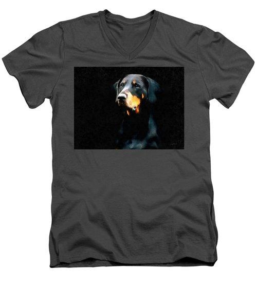 The Doberman Pinscher Men's V-Neck T-Shirt