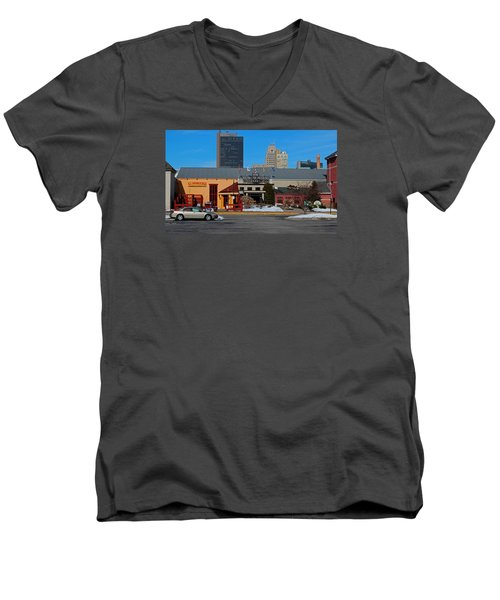 Men's V-Neck T-Shirt featuring the photograph The Docks by Michiale Schneider