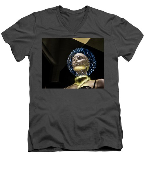 Men's V-Neck T-Shirt featuring the photograph The Doctor Will See You Now by Alex Lapidus