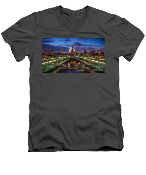 The Dome Men's V-Neck T-Shirt by Giuseppe Torre