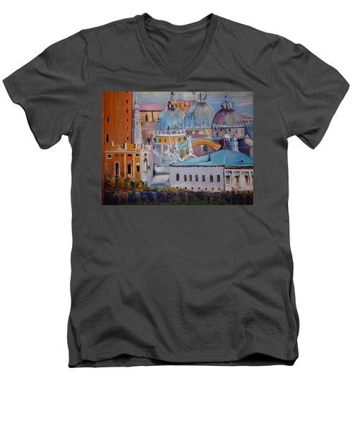 The Domes In Italy Men's V-Neck T-Shirt