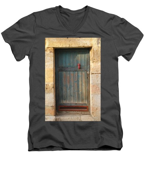 The Door And The Hand Men's V-Neck T-Shirt by Yoel Koskas
