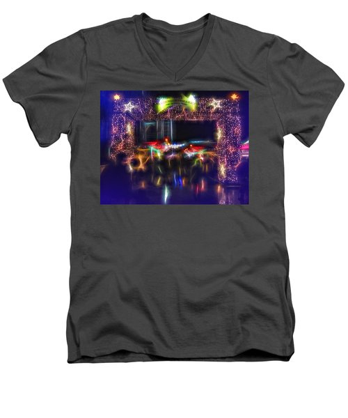Men's V-Neck T-Shirt featuring the photograph The Door To Christmas by Andreas Thust