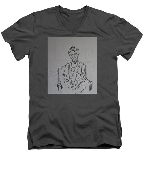 The Dowager Countess In Her Drawing Room At Dowton Abbey Men's V-Neck T-Shirt